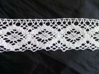 """2 yards of white scalloped  crochet clunny lace trim 2""""w"""