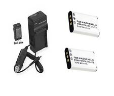 TWO 2 EN-EL11 Batteries + Charger for Nikon Coolpix S550 S560 Digital Camera