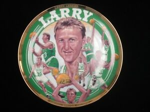 "1992 10.5"" Commemorative Larry Bird Boston Celtics Plate"