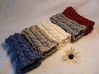 Hand Knitted Leg Warmers Boot Cuffs Toppers Australia Made