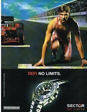 PUBLICITE ADVERTISING  2005   SECTOR  montre ANDRIY SHEVCHENKO ballon d'or 2004