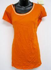 Top 3X Plus Michael Kors $64 NWT Tunic Orange Gold Chain Embellished Neck  J220