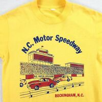 vtg 70s 80s NC Motor Speedway T-shirt SMALL Worn-Thin Racing Rockingham Vintage