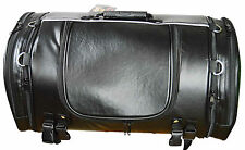 Motorcycle PVC Trunk Bag/Sissy Bar Travel Luggage 24x13x12 with Expandable Sides