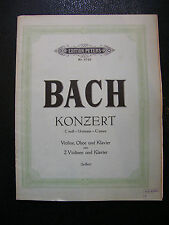 Partition Bach Konzert Hautbois C Moll Music Sheet