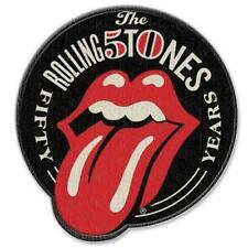 OFFICIAL LICENSED - ROLLING STONES - 50TH ANNIVERSARY WOVEN SEW-ON PATCH ROCK