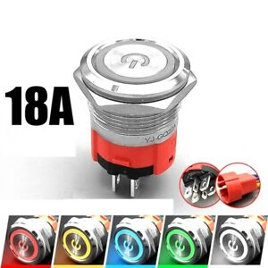 22mm 2 NO 18A High Current Waterproof IP67 High-power control push button switch