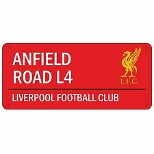 LIVERPOOL ANFIELD STREET SIGN RED WHITE KIDS BEDROOM DECOR BOYS FOOTBALL FAN