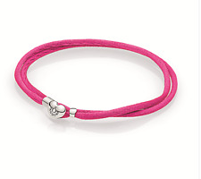 New Authentic Pandora Bracelet FABRIC CORD BRACELET, HOT PINK #590749CPH-S1