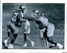 1990 Derrick Thomas Eric Thomas Kansas City Chiefs Football Photo 8X10