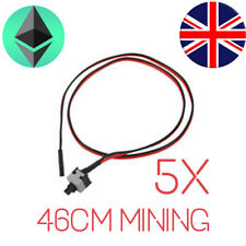 5 PC Power Supply I/O Reset Switch PC Motherboard Cable + Button Switch Mining