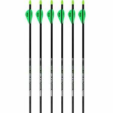 "Easton Arrow Axis Carbon 6pk 300 Spine 019387 2"" Blazer Vanes X Nocks 5MM #19387"