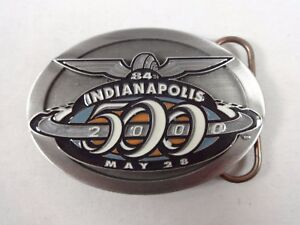 2000 Indianapolis 500 Belt Buckle Limited Edition 40 of 500 Pewter Montoya
