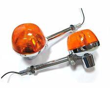 2X Front Turn Signal Lights For Honda CB175 CB200 T CB450 CB500 CB350 F/G w/stay