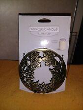Yankee Candle Dull Gold Maple Leaves Illuma Lid - NWT