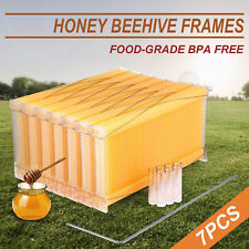 7PCS Auto Honey Beekeeping Beehive Raw Bee Comb Hive Frames Harvesting DHL