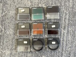 Cokin Cromofilter square filters & Round Filters - lot of 9