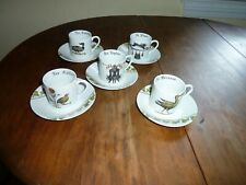 Set 5 Demitasse Cup & Saucer Sets Chambord by Porcelaine d'Auteuil