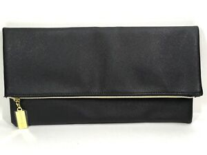 Estée Lauder Black Faux Leather Makeup Clutch With Zipper Top