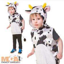 Cow Tabard Kids Costume Animal Nature Boys Girls Unisex Book Day Week Fancy Dres