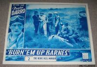 1934 BURN EM UP BARNES MOVIE LOBBY POSTER AUTO RACING MIDGET INDY 500 CAR SERIAL