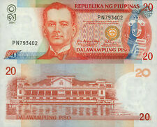 Philippines 20 Piso (2007) - Quezon/Palace/p182i UNC