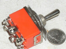2 TOGGLE SW DPDT HIGH CURRENT ON-OFF-ON SWITCH MOMENTARY BOTH WAYS 15 A AMP 15A