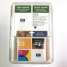 NEW TWIN Pack HP 23 Genuine Ink Cartridge desk jet 710, 712, 720, 722, 810 - 895