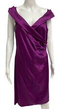 Jones New York Size 14 Purple sleeveless Work Elegant Dress