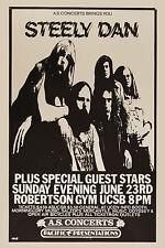 Steely Dan at Uc Santa Barbara Concert Poster 1974 12x18