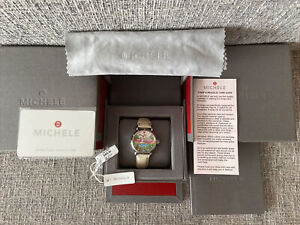 Limited Edition MICHELE Watch - Tropical Paradise (0.37CT TW 60 Diamonds 5 ATM)
