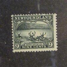 NEWFOUNDLAND Sc #138 * MH, Caribou Crossing Lake postage 9¢ stamp, Fine +