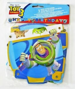 Toy Story 3 Happy Birthday Letter Banner - Party Decoration