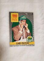 GARY PAYTON 1990 NBA SEATTLE ROOKIE NBA HOOPS LOTTERY PICK CARD #391 MINT+
