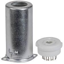 9-Pin Tube Socket Ceramic with Shield