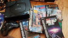 Console Sega Saturn + 6 jeux + 1 manette + boîte + câbles
