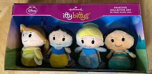Hallmark Itty Bittys Disney Princess Princesses Collector Set Of 4 Mini Plush