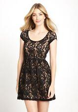 NWT US$158 AU$218 CASUAL COUTURE Lace Dress Black Twine Sz S AU8