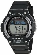 Casio WS220-1A Mens Solar Powered Led Light Sports Watch - LAP MEMORY 120