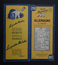 Carte MICHELIN n°206 old map ALLEMAGNE DEUTSCHLAND 1950 Bibendum pneu tyre 2