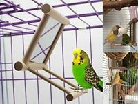 Bird Swing, Parrot Cage Toys,Swing Hanging Play with Mirror