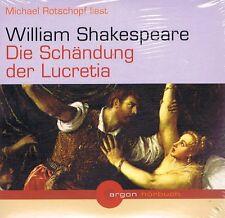 HÖRBUCH-DOPPEL-CD - Die Schändung der Lucretia - William Shakespeare