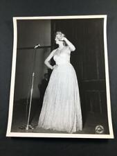 1944 WW2 USO IRENE MANNING Movie Actress US Army Camp Polk LA Old Photo A255