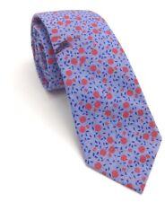 $110 BAR III Men BLUE RED FLORAL COTTON TIE CLASSIC SKINNY NECKTIE 56X2.5
