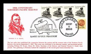 DR JIM STAMPS US NORTHERN PACIFIC RAILWAY LAST SPIKE GOLD CREEK MONTANA COVER