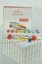 PULL-A-TUNE XYLOPHONE HALLMARK ORNAMENT 2017 FISHER PRICE NEW~FREE SHIP IN US