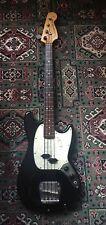 Fender Mustang Bass MIA USA 1973 - 74 Fretless Conversion by Gordon-Smith Black