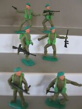 Timpo toys British soldiers 1st series Green berets full set of all 6 e/x v/rare