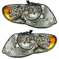 Headlight Set For 2005-2007 Chrysler Town & Country Left & Right w/ bulb