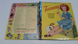 4SQ Little Golden Book 1stSYD 1963 TAMMY with dolls and clothes CUT OUTS PEPPER